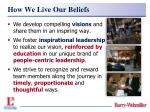 how we live our beliefs20