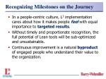 recognizing milestones on the journey