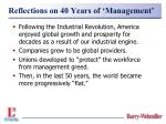 reflections on 40 years of management