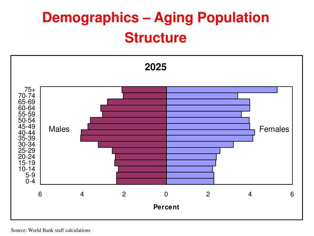Demographics – Aging Population Structure