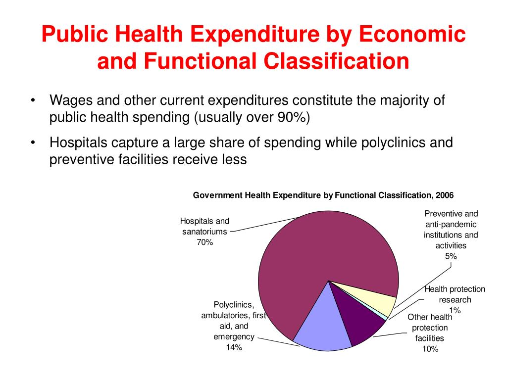 Public Health Expenditure by Economic and Functional Classification