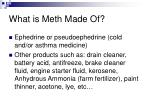 what is meth made of