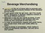 beverage merchandising