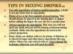 tips in mixing drinks gr