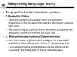 interpreting language today