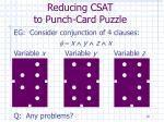 reducing csat to punch card puzzle18
