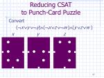 reducing csat to punch card puzzle27
