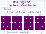 reducing csat to punch card puzzle28