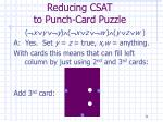 reducing csat to punch card puzzle31