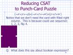 reducing csat to punch card puzzle36