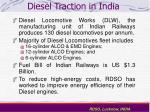 diesel traction in india