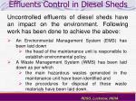 effluents control in diesel sheds