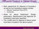 effluents control in diesel sheds37