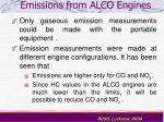 emissions from alco engines28
