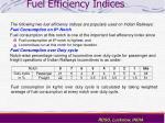 fuel efficiency indices
