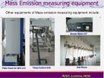 mass emission measuring equipment