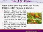 use of bio diesel