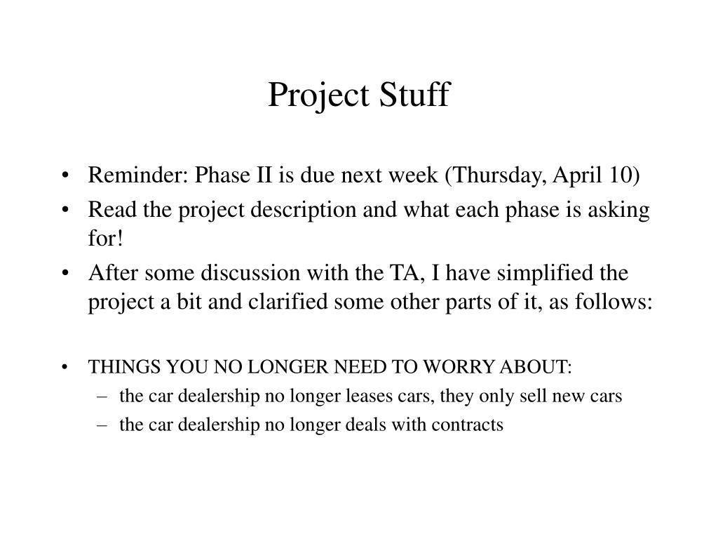 project stuff l.