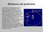 mechanics and gravitation