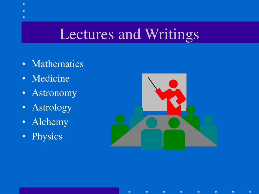 Lectures and Writings