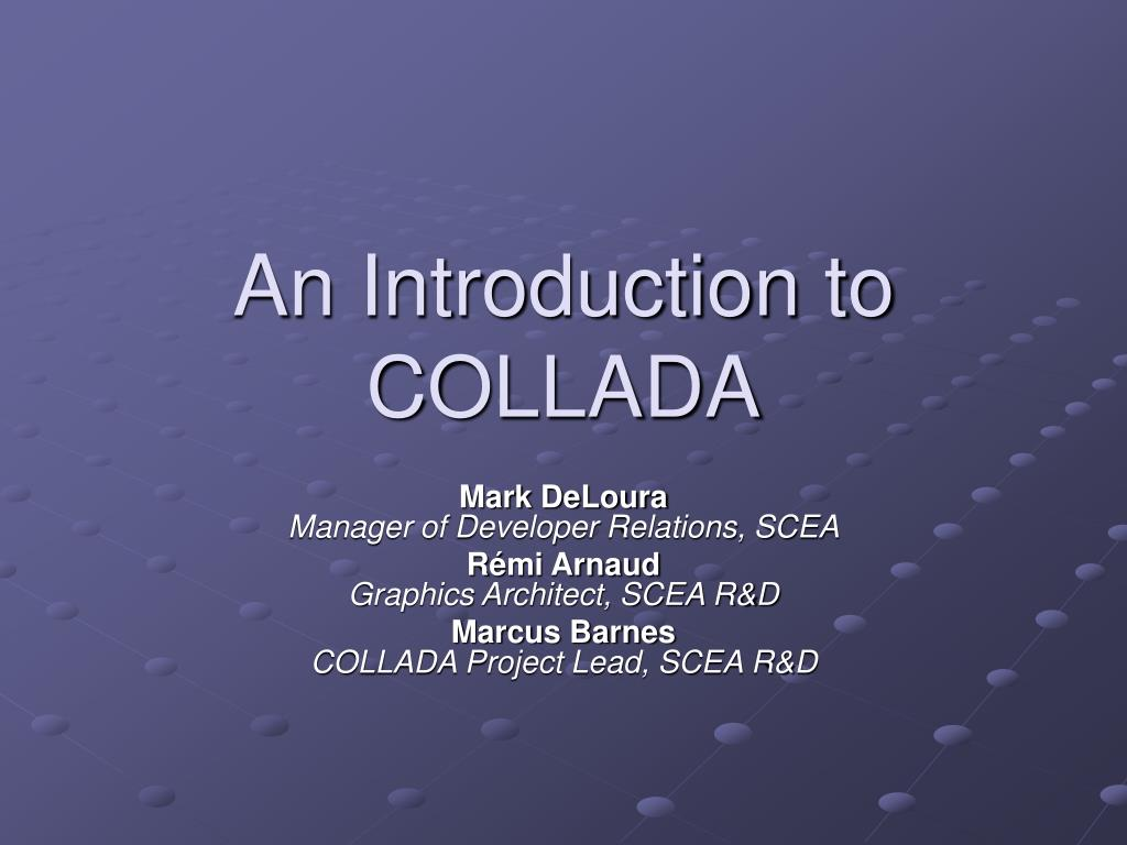an introduction to collada l.