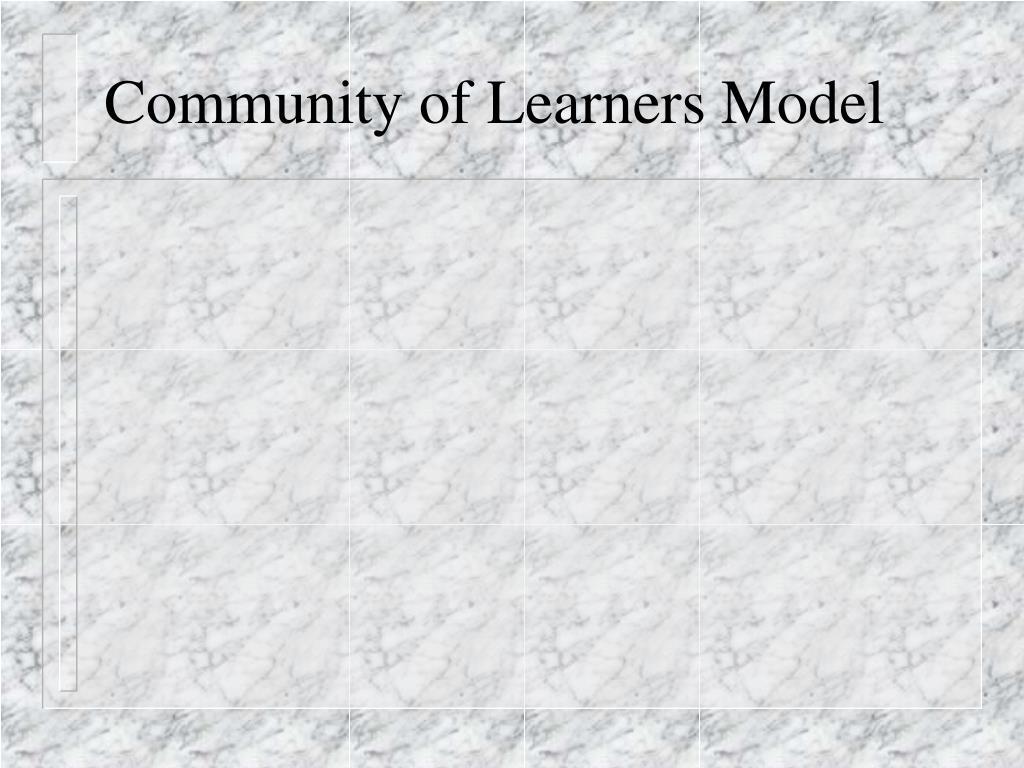 Community of Learners Model