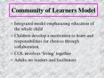 community of learners model18