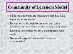 community of learners model19