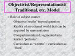 objectivist representationist traditional etc model5