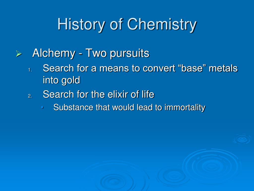 History of Chemistry