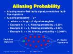 aliasing probability