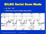 bilbo serial scan mode