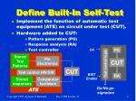 define built in self test