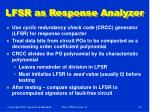 lfsr as response analyzer