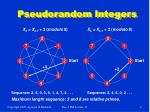 pseudorandom integers