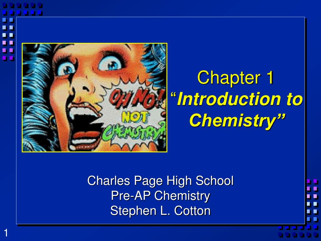 chapter 1 introduction to chemistry l.