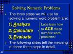 solving numeric problems42