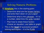 solving numeric problems43