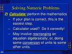 solving numeric problems44