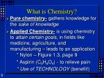 what is chemistry9