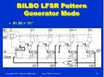 bilbo lfsr pattern generator mode