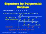 signature by polynomial division