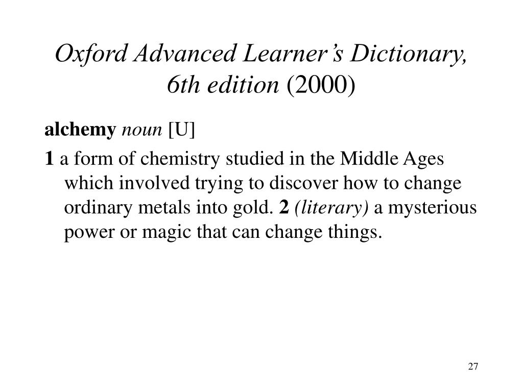 Oxford Advanced Learner's Dictionary, 6th edition