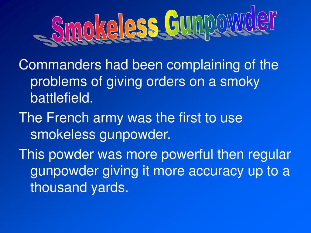 Smokeless Gunpowder