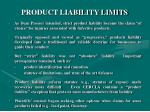 product liability limits