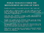 public nuisance under the restatement second of torts