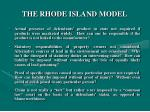 the rhode island model9