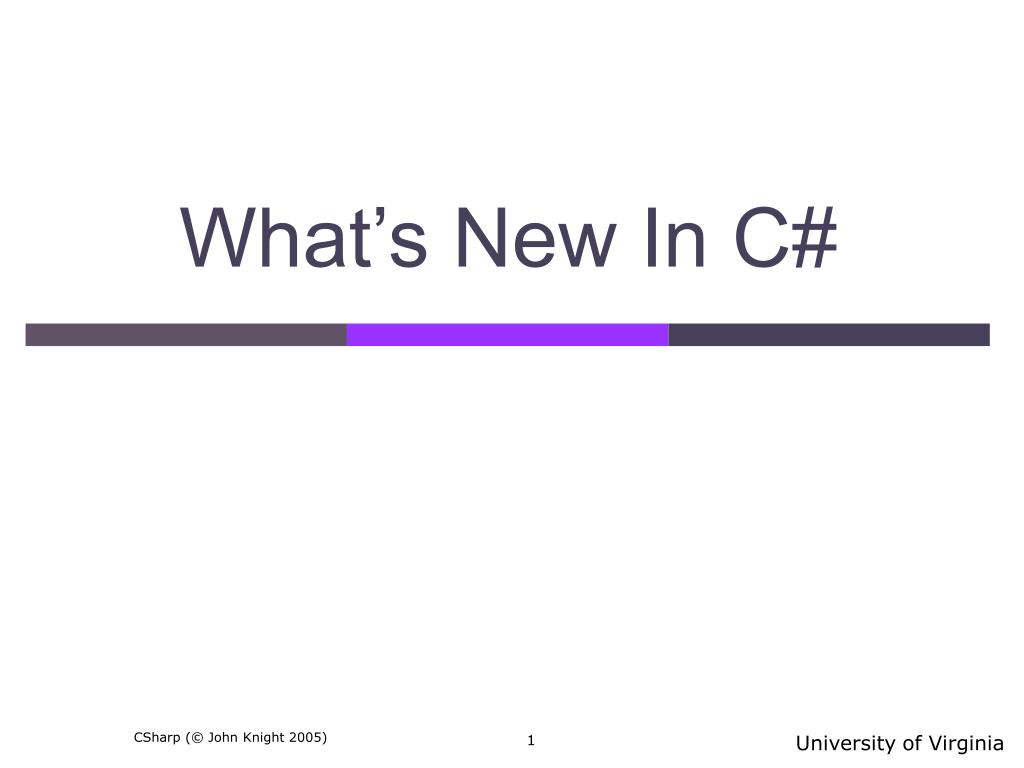 what s new in c
