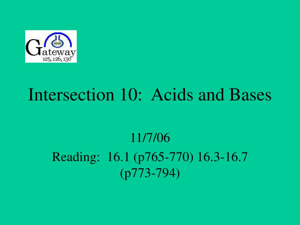 intersection 10 acids and bases l.