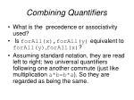 combining quantifiers